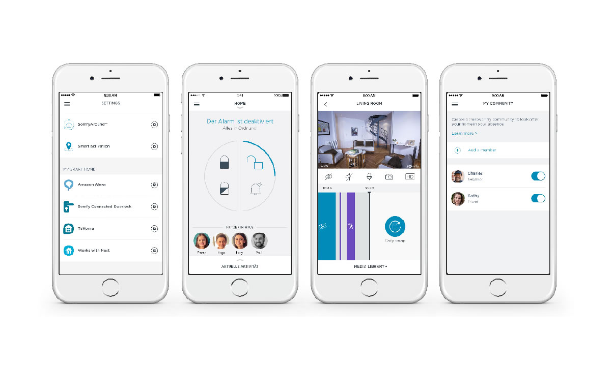 Somfy One+ Smartphone App